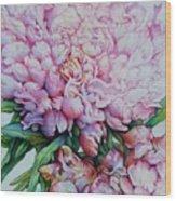 Peony Pink Parfait  Wood Print