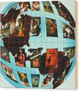 People Of The World Wood Print