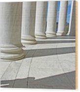 A Man Leaning On A Column Wood Print