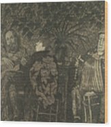 Three Persons Wood Print