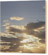 People Silhouette Sunset Wood Print by Brandon Tabiolo - Printscapes