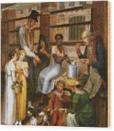 Pepper-pot. A Scene In The Philadelphia Market Wood Print