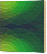 Pepper Semi Circle Background Horizontal Wood Print