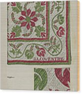 Pepperberry Quilt Wood Print
