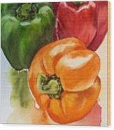 Peppers 3 Wood Print