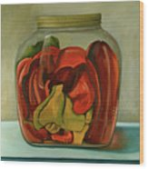 Peppers Wood Print