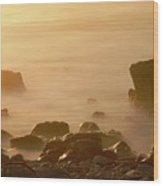 Pepple Beach Wood Print