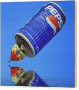 Pepsi Can Hot Air Balloon At Solberg Airport Reddinton  New Jersey Wood Print