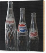 Pepsi Cola Bottles Wood Print