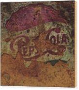 Pepsi Cola Vintage Sign 5a Wood Print