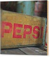 Pepsi Crate Wood Print