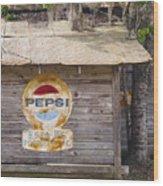 Pepsi Sign Wood Print