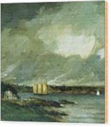 Pequot Light House Connecticut Coast 1902 Wood Print