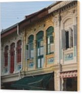 Peranakan Architecture Design Houses And Windows Joo Chiat Singapore Wood Print