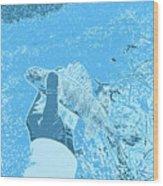Perch Blue Wood Print