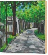 Pere Lachaise Cemetery Wood Print