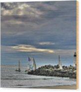 Perfect Beach And Smooth Sailing Wood Print