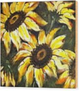 Perfect Beauty Sunflower Wood Print
