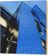 Perfect Blue Buildings Wood Print