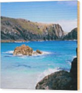 Perfect Blue Water Wood Print