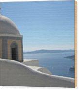 Perfect Day In Santorini Wood Print