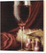 A Perfect Glass Of Wine Wood Print