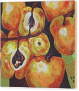Perfect Pears Wood Print