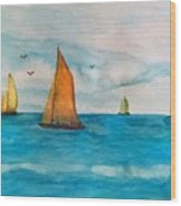 Perfect Sailing Day Wood Print