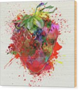 Perfect Strawberry Wood Print