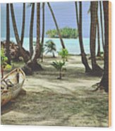 Perfect Tropical Paradise Islands With Turquoise Water And White Sand Wood Print