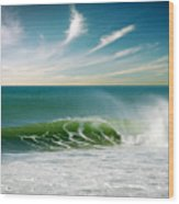 Perfect Wave Wood Print by Carlos Caetano