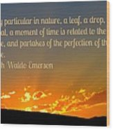 Perfection Of Nature Wood Print