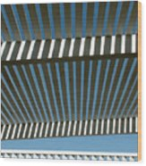 Pergola Bottom Wood Print