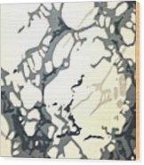 Period Wallpaper Wood Print