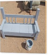 Periwinkle Bench Wood Print