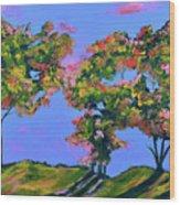 Periwinkle Twilight Wood Print