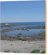 Perkins Cove Ocean View Wood Print
