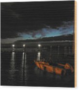 Perkins Pier Sunset Wood Print
