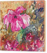 Perky Pink Wood Print