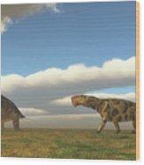 Permian Inostrancevia Hunts Keratocephalus Wood Print