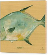 Permit Fish Wood Print