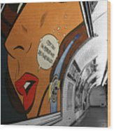 Perrier Ad Wood Print