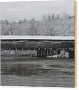 Perrine's Bridge After The Nor'easter Wood Print