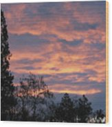 Perrydale Sunrise Wood Print