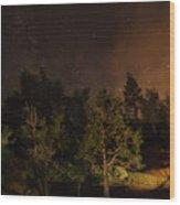 Perseid Meteor Glow A Wood Print