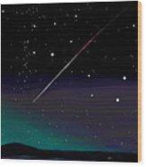 Perseid Meteor Shower  Wood Print by Jean Pacheco Ravinski