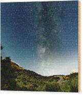 Perseids Meteor Shower  Wood Print
