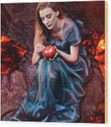 Persephone, Greek Mythological Goddess Wood Print