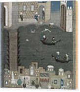 Persian Miniature, 1468 Wood Print