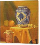 Persian Vase And Fruit Jar Wood Print